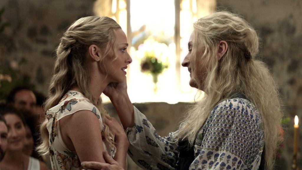 Amanda Seyfried and Meryl Streep in a scene from the Mamma Mia! Here We Go a86fe994543b0