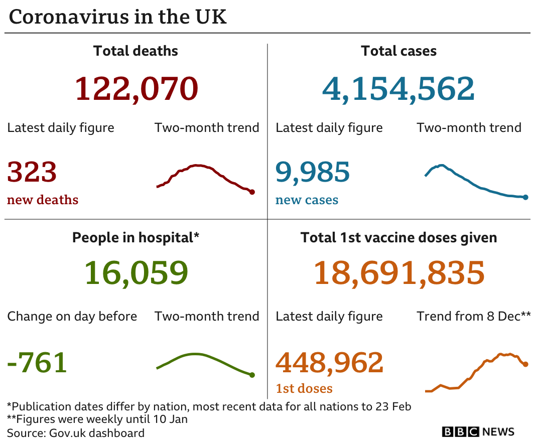 Summary of the UK's coronavirus epidemic