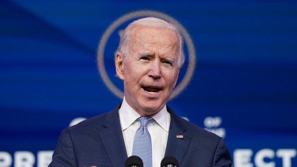 President-elect Joe Biden speaks amid protests in Washington
