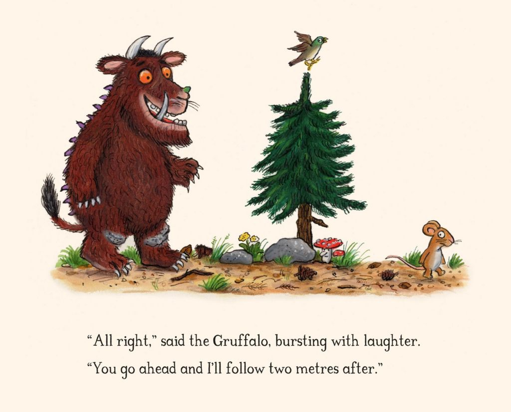 The Gruffalo author Julia Donaldson shows her characters social distancing