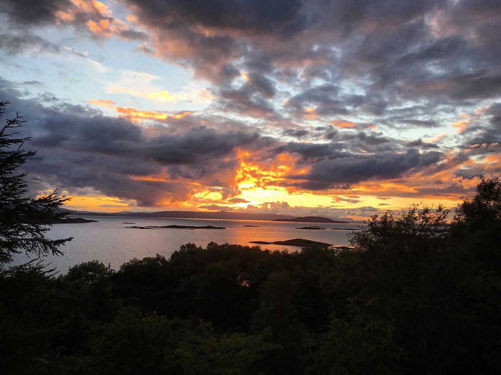 Sunset over Kyle of Lochalsh