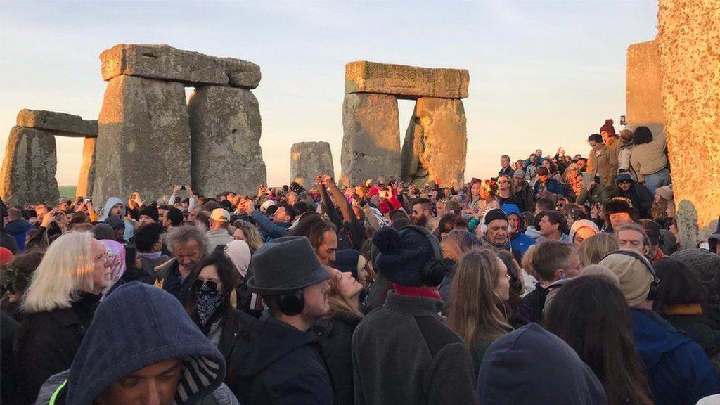 People photographing Stonehenge