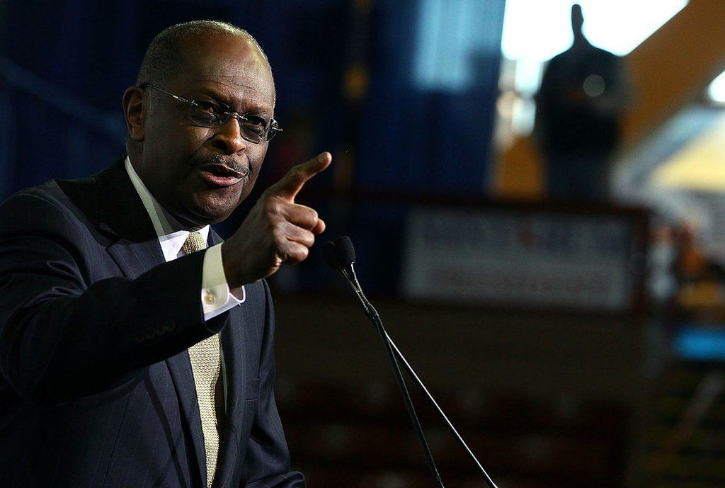 Herman Cain speaks at the Southern Republican Leadership Conference, on January 19, 2012 in Charleston, South Carolina