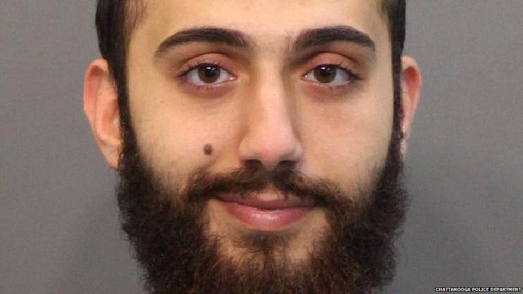 A police image of Mohammad Youssuf Abdulazeez taken after he was arrested for driving under the influence of alcohol - 20 April 2015