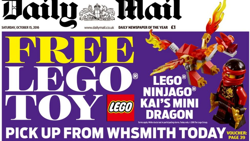 Lego giveaways in Daily Mail end amid protest - BBC News