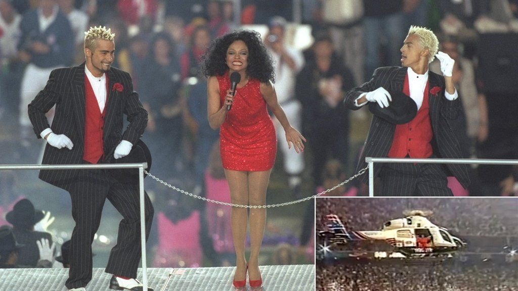 Diana Ross at the Super Bowl