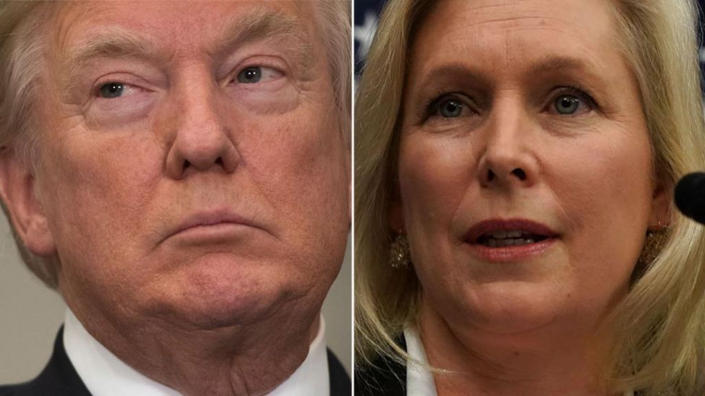 Trump attacks 'begging' female senator