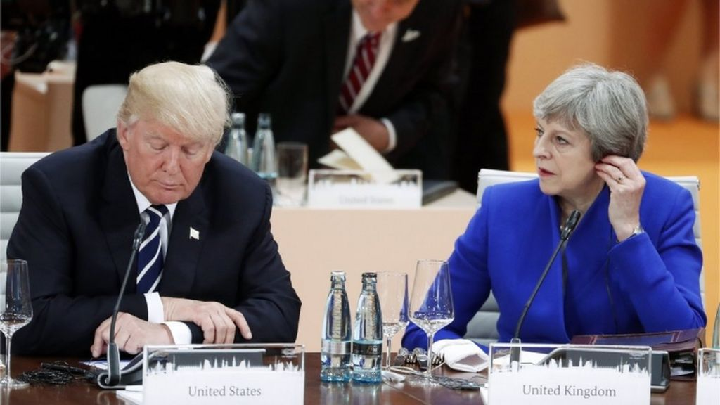 G20: Theresa May and Donald Trump to discuss post-Brexit trade
