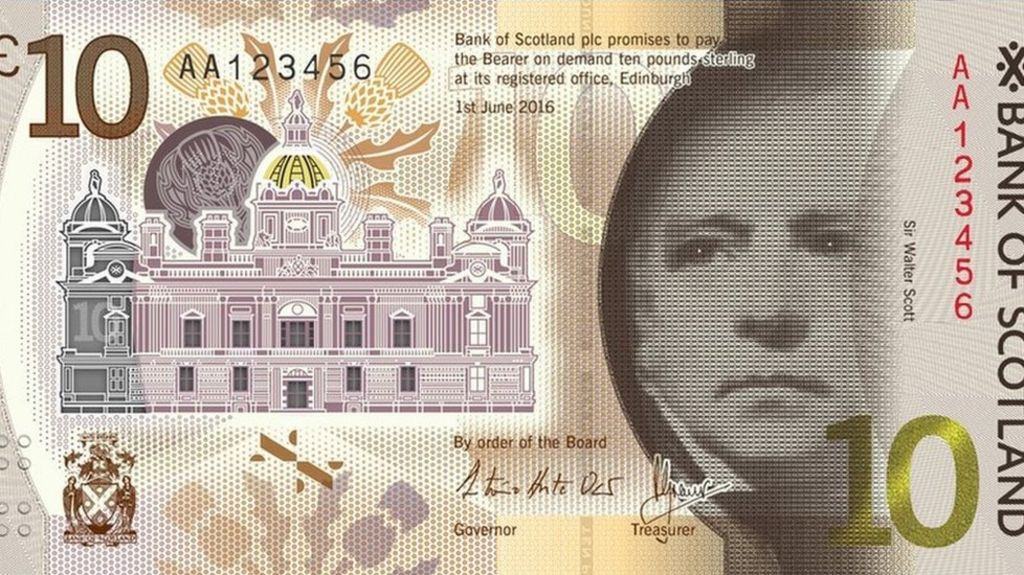 Bank of Scotland unveils new £10 plastic note design