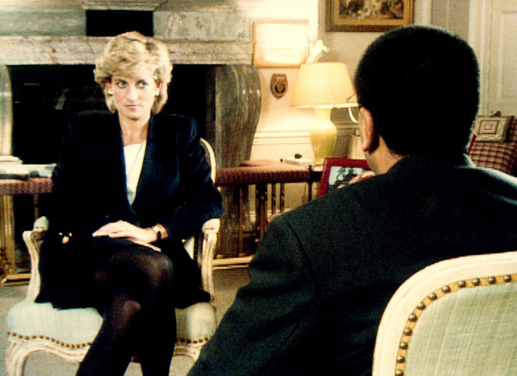Still from Princess Diana's 1995 interview with Martin Bashir