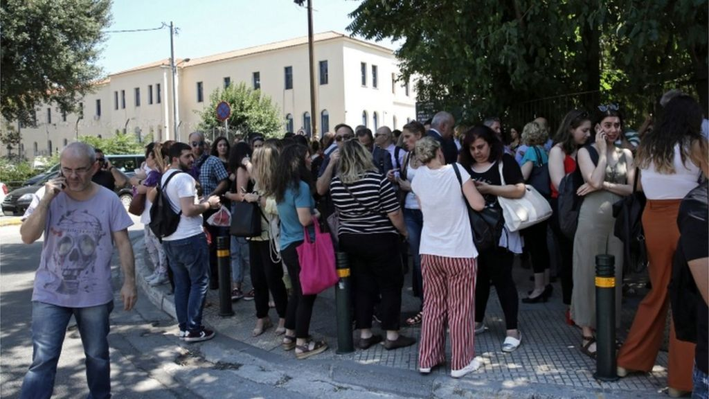 Greek Earthquake Buildings Collapse As Powerful Tremor