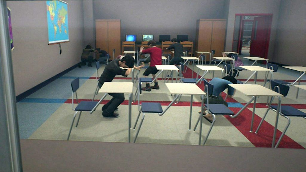 Tech simulates how to survive shootings
