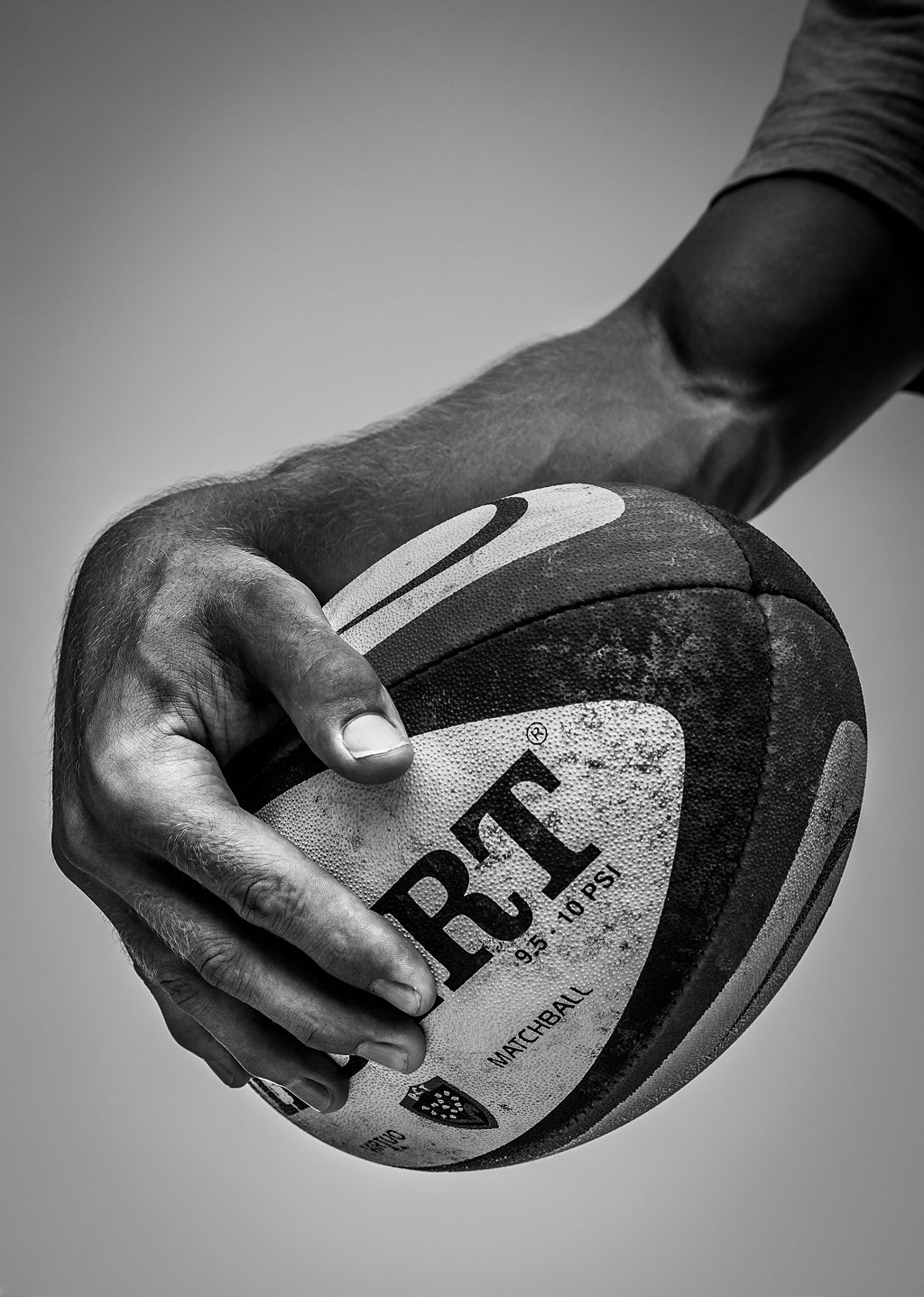 Hand of rugby player Jonny Wilkinson