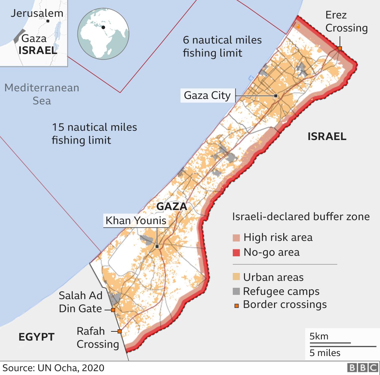 Map of Gaza