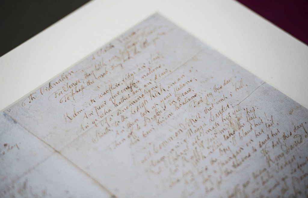 Robert Burns manuscript