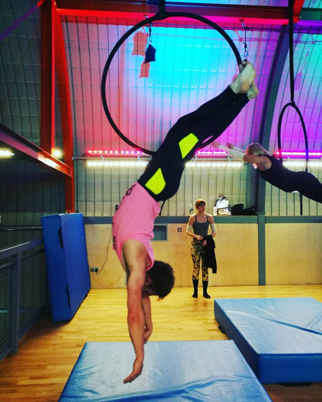 Nick doing circus arts