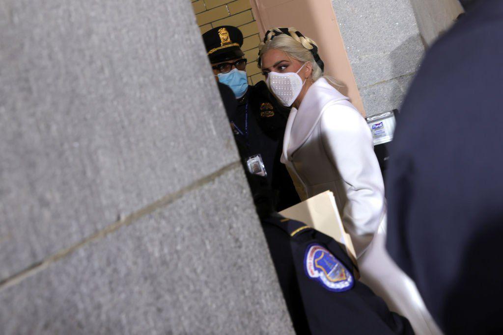 Lady Gaga arrives