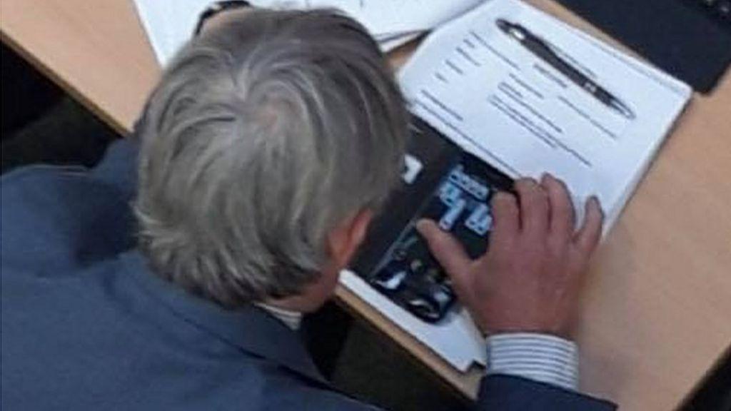 bbc.co.uk - Councillor 'played game on mobile' in Teignbridge housing debate