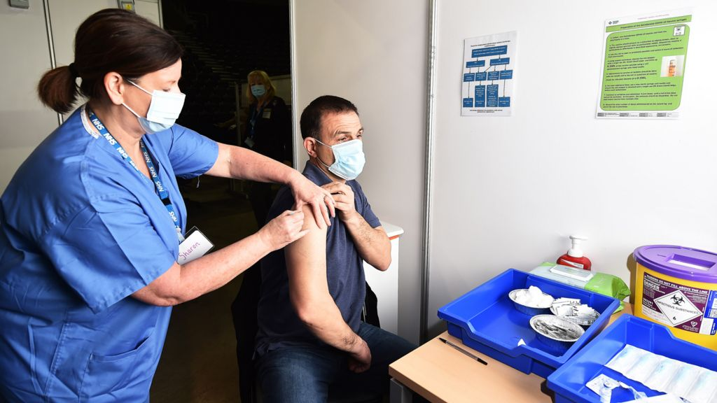Being vaccinated in Belfast