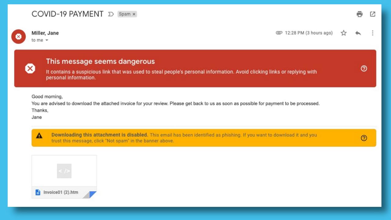 Another coronavirus scam email