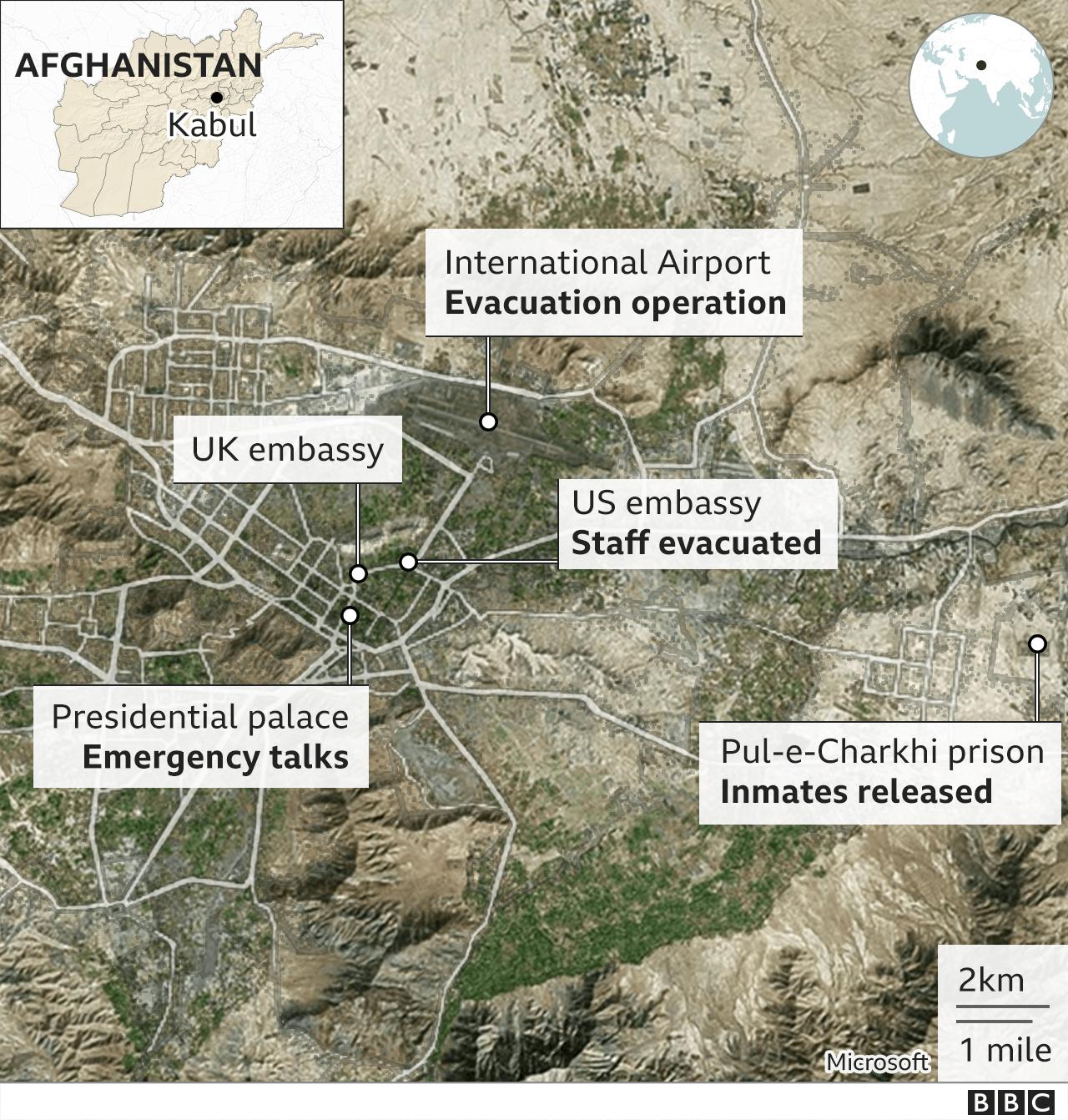 Map of Kabul