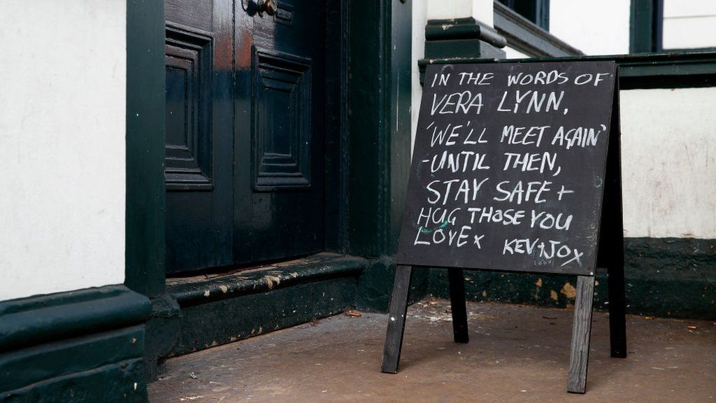 Altrincham pub sign informs customers of closure. March 21, 2020
