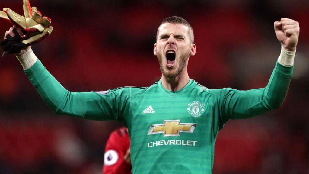brand new 6a02b ad6a7 David de Gea: Manchester United goalkeeper signs new deal at ...