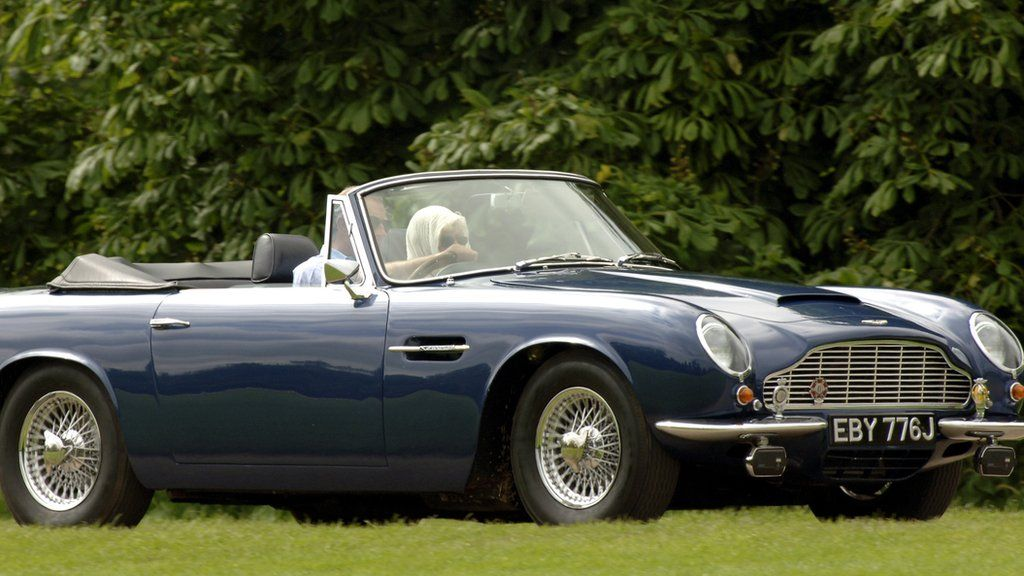 prince charles in his aston martin