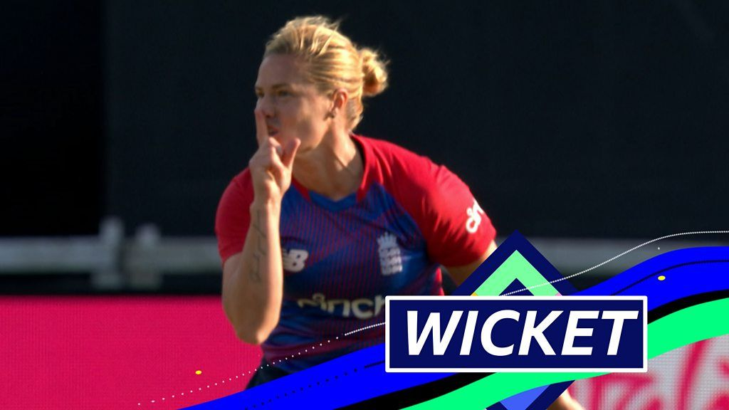 England v India: Katherine Brunt bowls Shafali Verma for a duck in first over