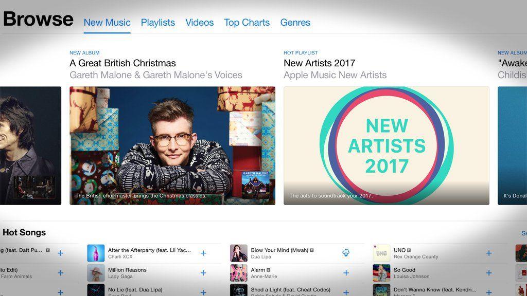 Screenshot of the Apple Music app