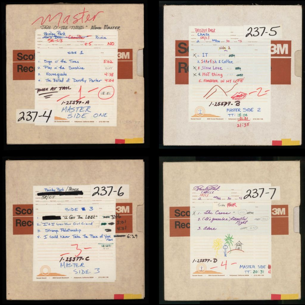 Master tapes for Sign O' The Times