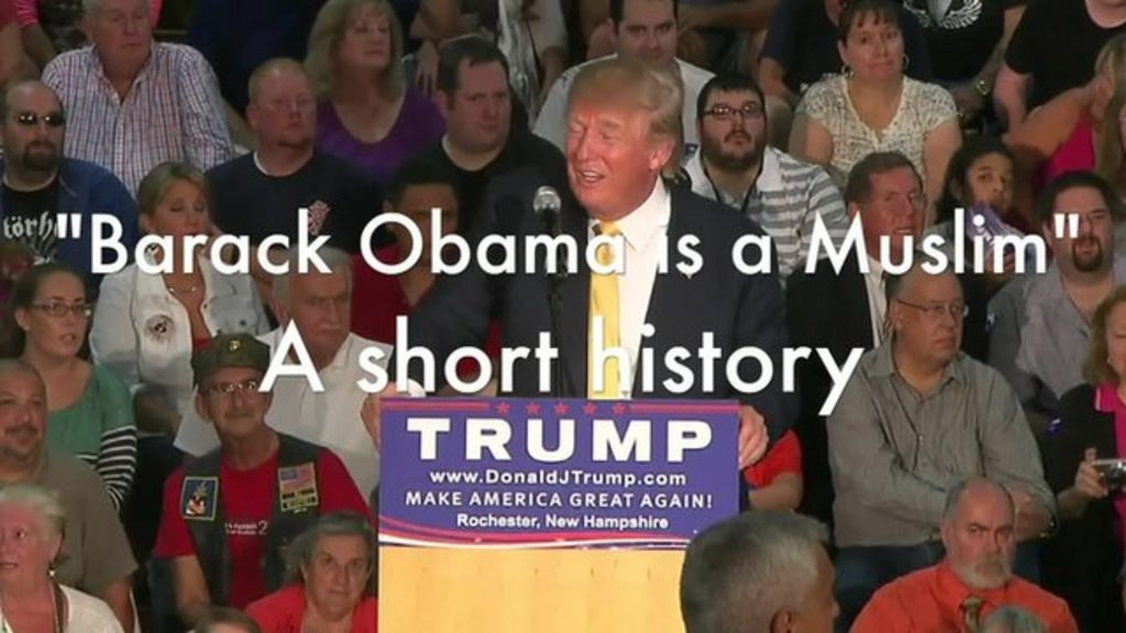 Donald Trump criticised for not correcting 'Obama is Muslim' man - BBC News