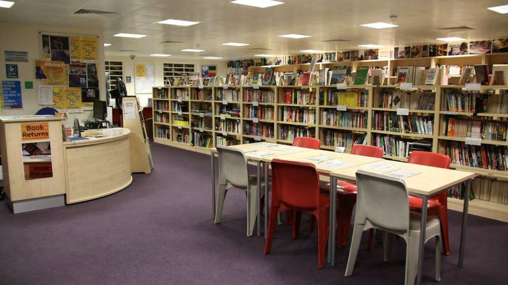 The library at HM Prison Thameside