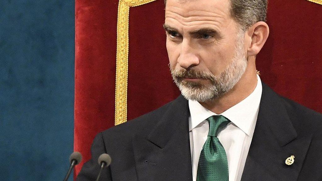 Catalonia belongs in Spain, king says