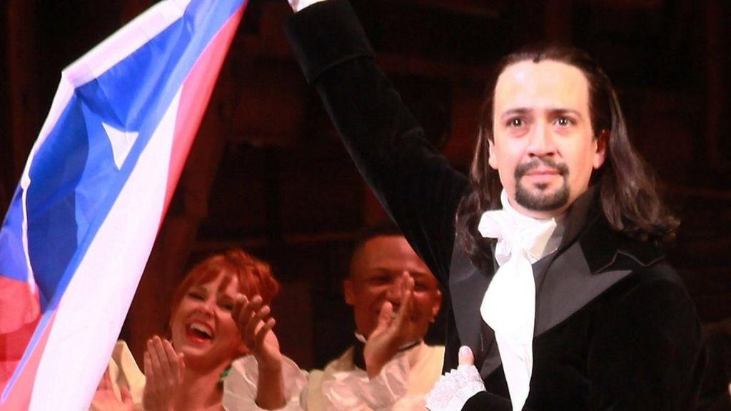 Lin-Manuel Miranda raps fan for filming Hamilton - BBC News