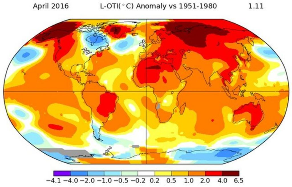 April breaks global temperature record  BBC News