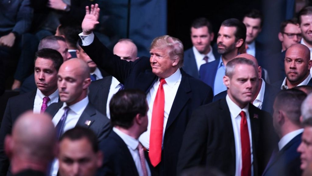 online store fashion style sale online UFC: Raucous reception for Trump at Mixed Martial Arts - BBC ...