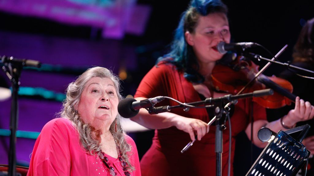 Norma Waterson plays at the Royal Albert Hall for the BBC Radio 2 Folk Awards