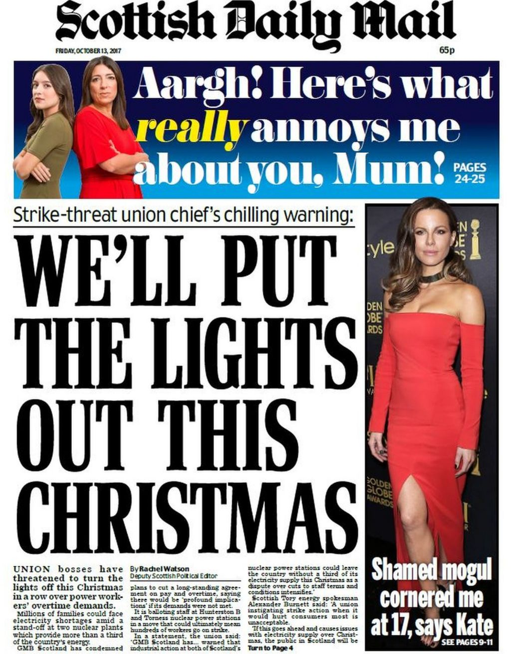 Scotland's papers: Christmas 'black-out' claims