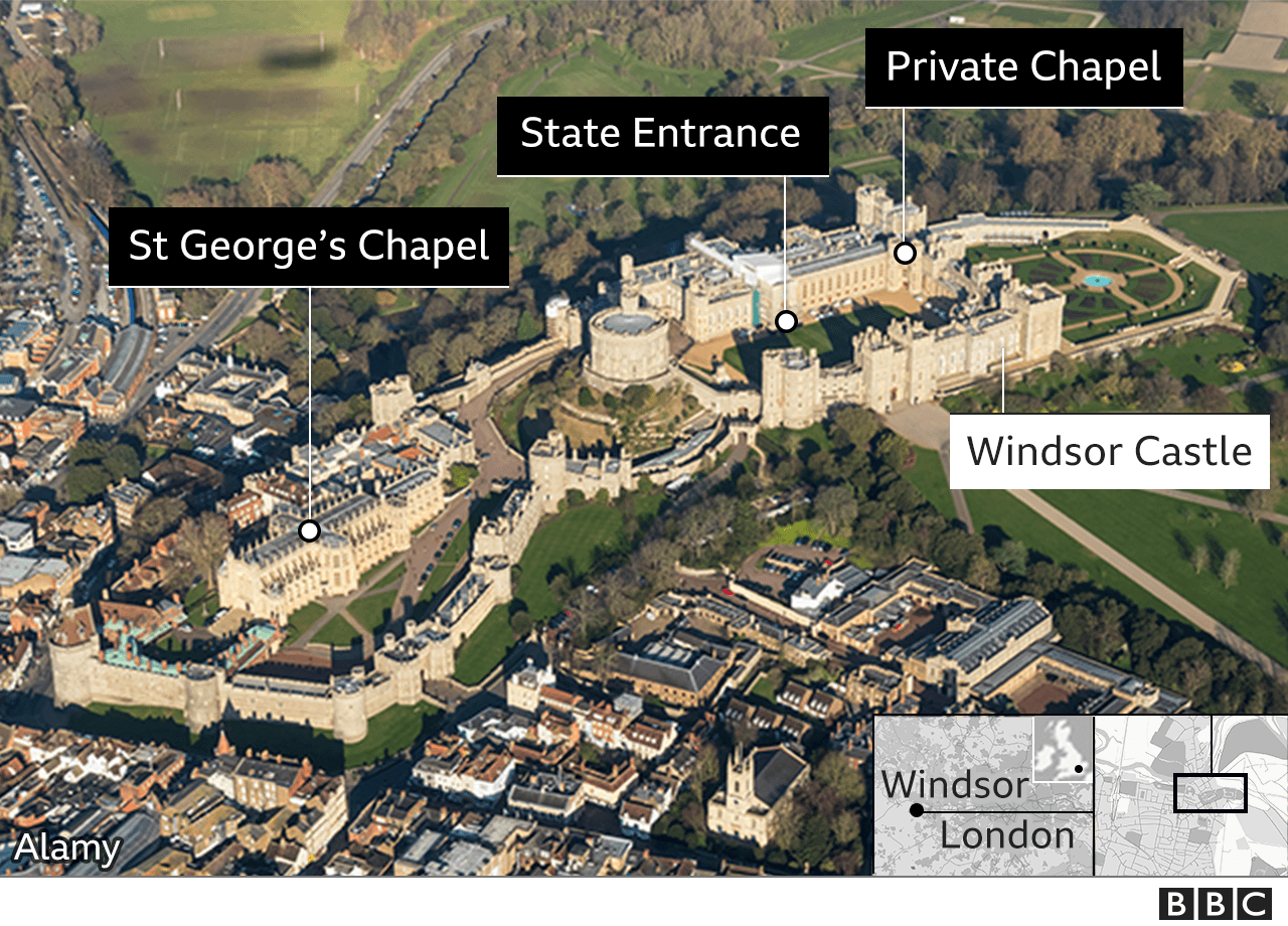 Map of Windsor Castle