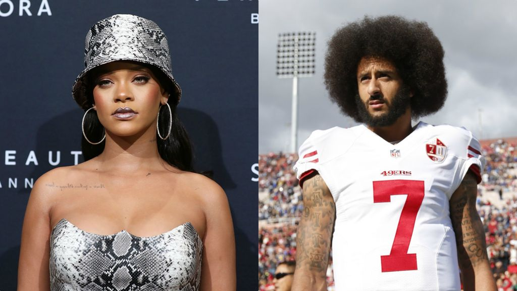 Image result for rihanna and colin kaepernick