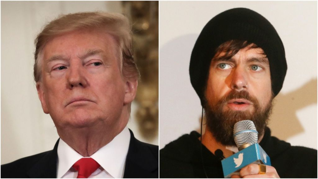 Donald Trump Meets Twitter S Jack Dorsey At White House Bbc News