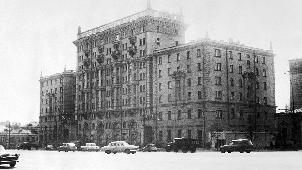 US Embassy on Novinsky Boulevard in Moscow, circa 1964