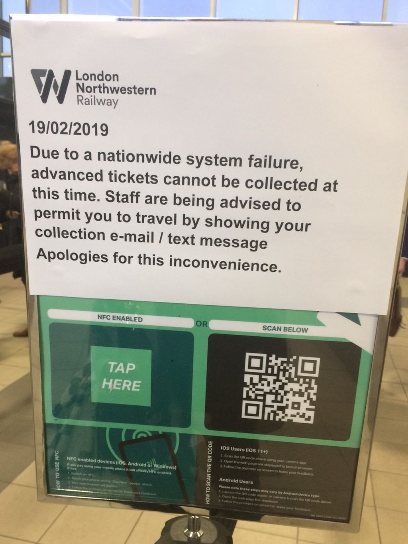 London Northwestern Railway sign