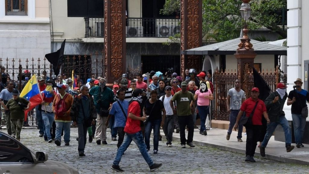 Maduro supporters storm Venezuela's National Assembly