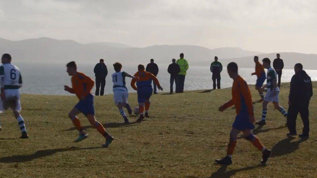 Game on Eriskay's pitch
