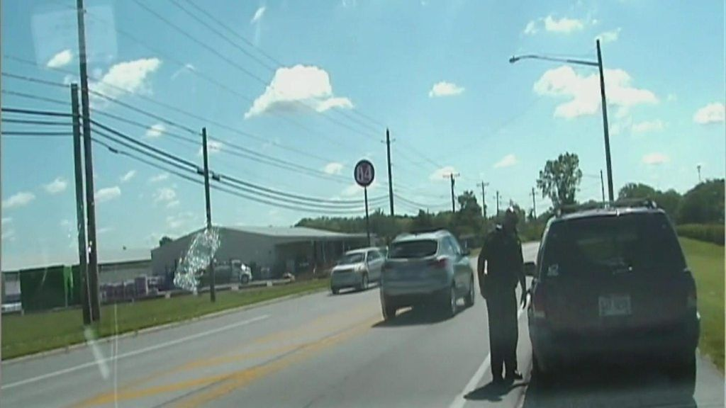 US policeman in hot pursuit of own car