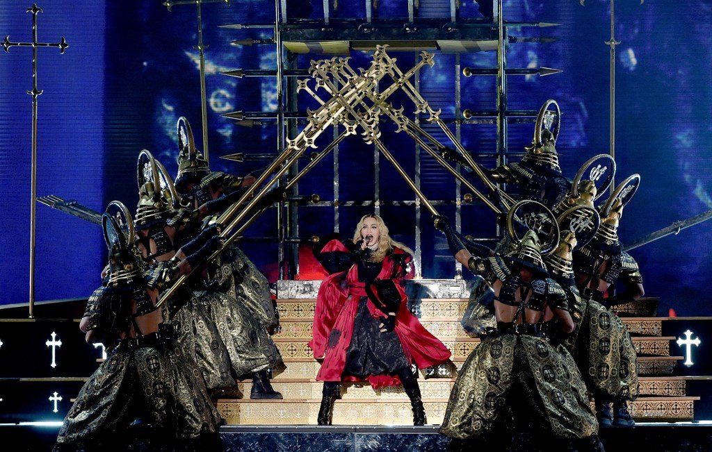 Madonna on her Rebel Heart tour