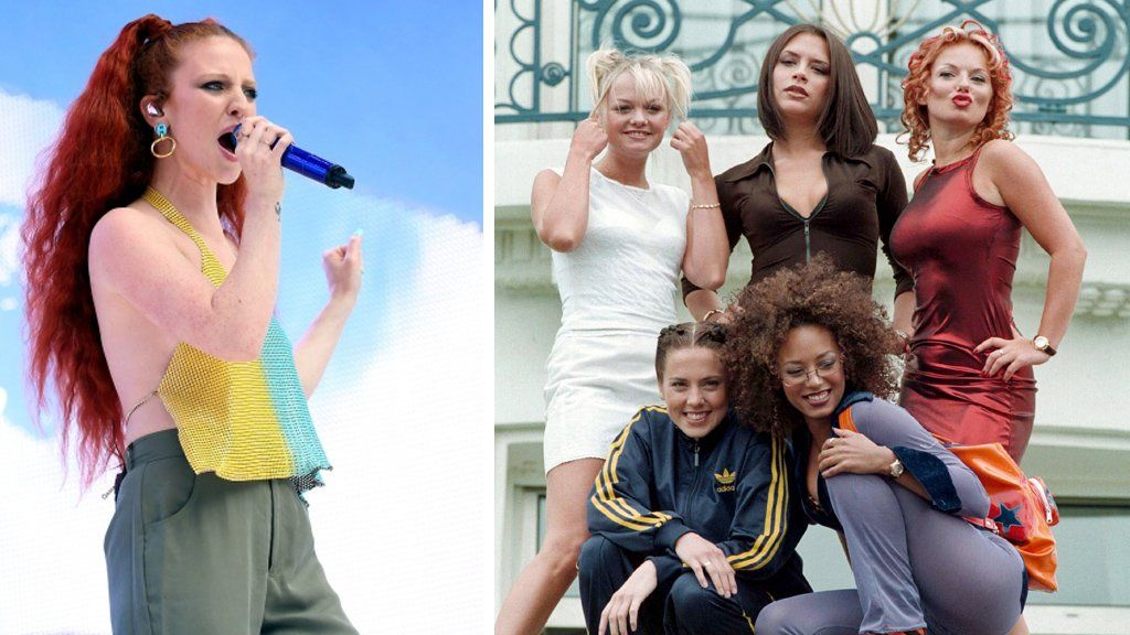 Jess Glynne (first appearance, Now 87) and the Spice Girls (first appearance, Now 34)