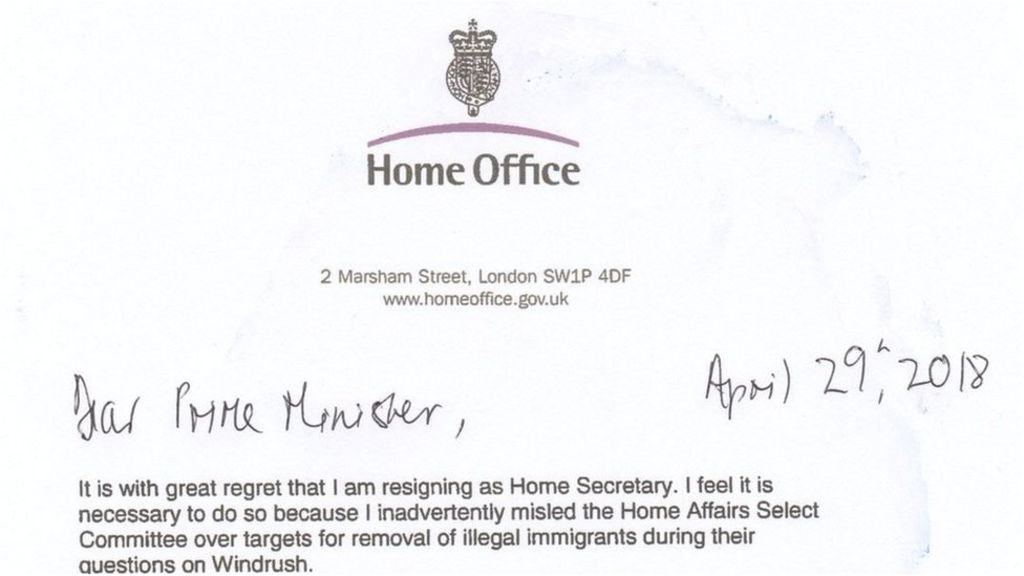 Amber Rudd\'s resignation letter and Theresa May\'s response ...